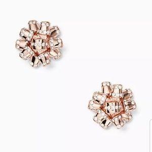 Kate Spade Rose Gold Bourgeois Bow stud earrings